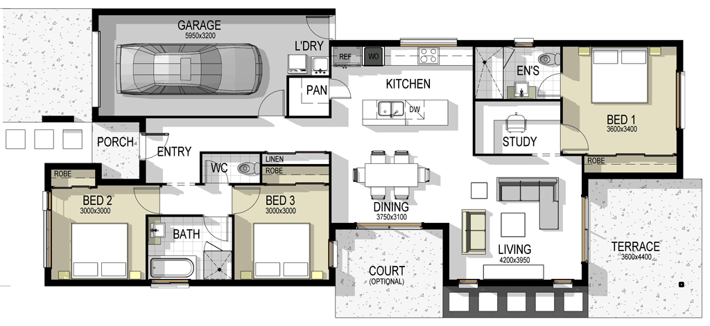 The madrid house plan The house planner